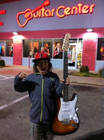 I bought my first electric guitar!
